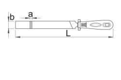 Размеры напильника