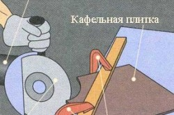 Схема резки кафельной плитки болгаркой