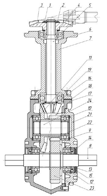 Схема углового редуктора