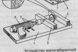 Устройство малогабаритной циркулярной пилы на базе электродрели