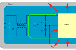 Схема помехового фильтра