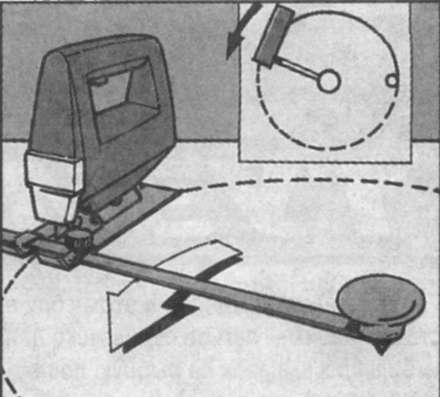 Схема вырезания круга