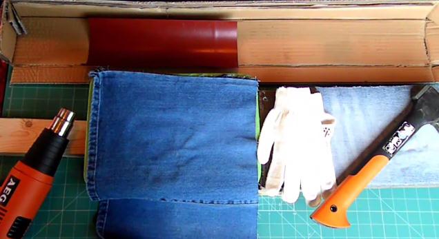 Как сшить сумку из кусков кожи 54