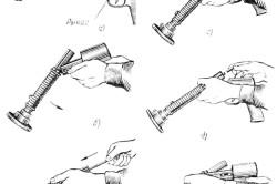 Последовательность зарядки строительного пистолета