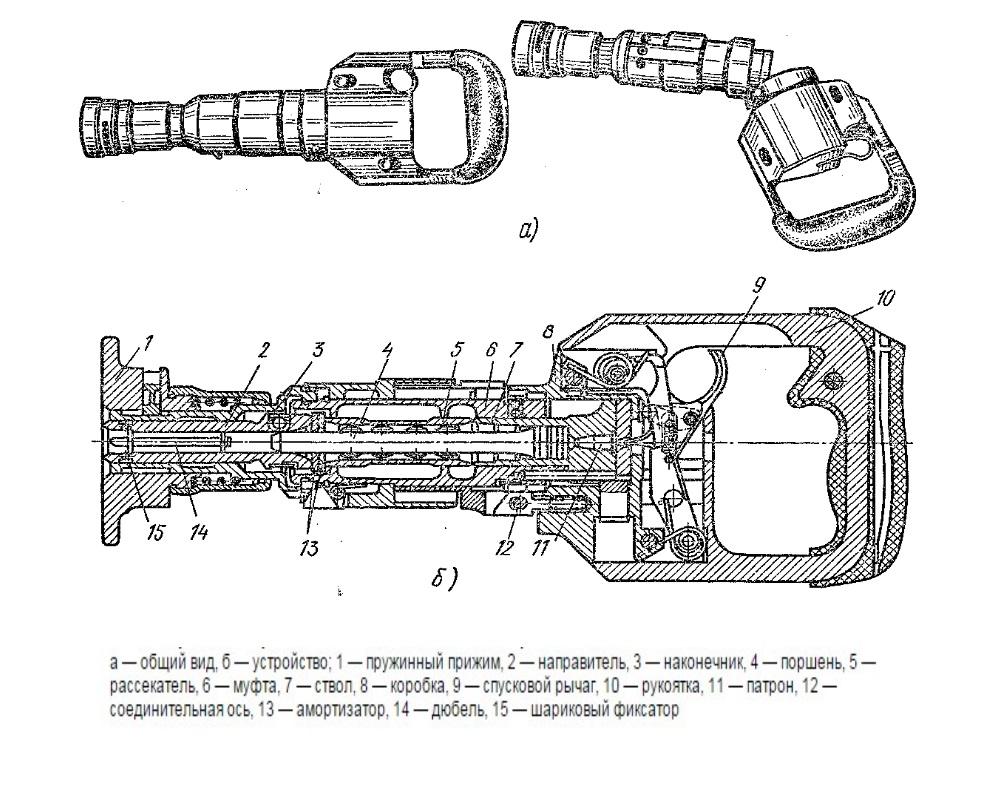 схема беспоршневого ружья подводного