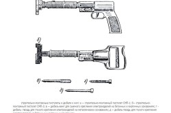 Схемы строительно-монтажных пистолетов и дюбелей к ним