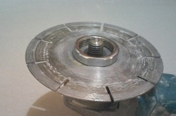 Установка гайки между дисками