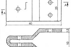 Схема изготовления серьги