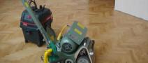 Процесс самостоятельной циклевки паркета — Hummel, Trio, Flip