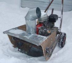 Как из бензопилы сделать снегоуборщик своими руками фото 694